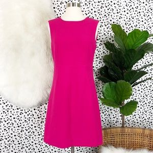 DVF | Carrie Hot Orchid Pink Zip Sheath Dress